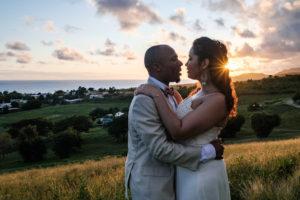 sunset wedding photos island