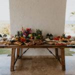 food wedding dinner tropical fruit