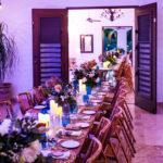 indoor wedding dinner