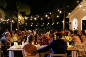 wedding dinner twinkle lights
