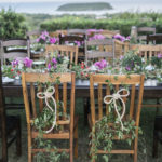 wedding dinner outdoor ocean view island