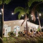 island outdoor wedding dinner